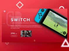 Nintendo Switch Homepage Redesign by Arthur Guillermin Hazan #Design Popular #Dribbble #shots