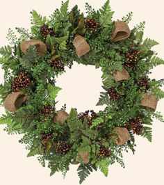 Berry Wreath at Joann.com- If my current Christmas wreath were to fall apart or otherwise become unusable, I'd make this!