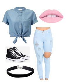 """""""Baylins outfit"""" by skylar9brynn9hayden ❤ liked on Polyvore featuring Miss Selfridge and Converse"""