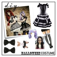 """""""DIY Halloween Costume"""" by irockcrowns ❤ liked on Polyvore featuring Post-It, halloweencostume and DIYHalloween"""