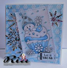 January Cupcake and sentiment from www.digitaldelightsbyloubyloo.com