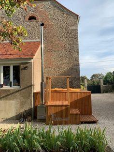 Bain nordique jacuzzi intégré encastré à terrasse, Christian, FLAVIGNY SUR OZERAIN, France -