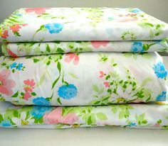 King sheet set flat sheet fitted sheet and two pillow by KimBuilt, $38.00