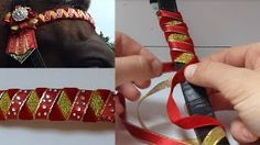 how to make browband rosettes ribbon - YouTube