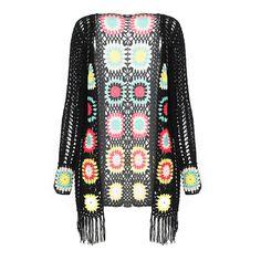 Aliexpress.com: Comprar Guiño Gal 2015 para mujer moda otoño manga larga Floral largo negro encaje Cardigan mujeres suéter promoción 1488 de empresas suéter fiable proveedores en Wink Gal