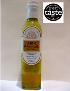 Irresistibly Delicious from the French Dressing Company! Sweet honey paired with tangy wholegrain mustard, combined to delight your tastebuds. Awarded gold at the #GreatTasteAwards 2014