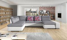 Luxusní sedací souprava Tampa, bílá/šedá Couch, Furniture, Home Decor, Homemade Home Decor, Sofa, Couches, Home Furnishings, Sofas, Sofa Beds