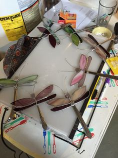 I used silverware handles to make these dragonflies.