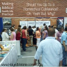 This is the season of homeschool conventions – from small, intimate convocations in rural areas, to megaconferences with more attendees than our hometown. They're the boon and the bane of many homeschoolers' year. Are they really necessary, with all the information and resources on the Internet? Is there a benefit to the crowds, the travel, the time away from home? You bet!  We'd been to nearly thirty conferences in nine different states before we started doing this for a living … and we can…