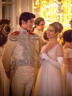 James Norton as Prince Andrei Bolkonsky and Lily James as Natasha Rostova in War and Peace (TV Mini-Series, 2016). [x]