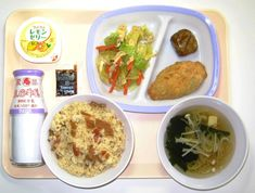 中学校給食(例)の写真