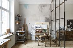 my scandinavian home: An artist's studio and home in Stockholm