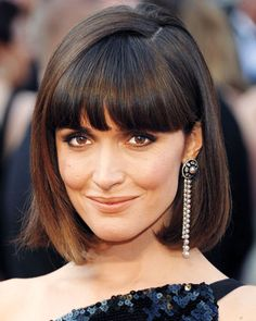 Haircuts of the Year - Rose Byrne's Fringed Bob from #InStyle