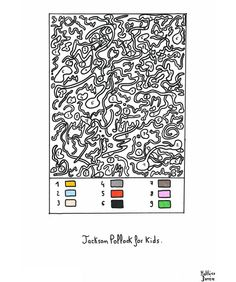 Jackson Pollock for kids (also good for the color-blind, and those just plain confused by the work) #art #humo