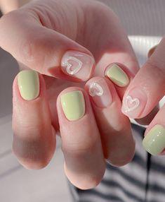 Cute Gel Nails, Soft Nails, Simple Nails, Stylish Nails, Trendy Nails, Nail Atelier, Jelly Nails, Kawaii Nails, Minimalist Nails