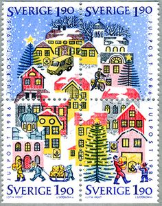 Leena, our Postationist elf. loves the beautiful snowflakes that fall on Sweden…