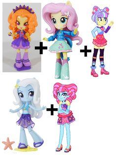 My Little Pony: Equestria Girls Mini Postcrush Custom ideas Crystal Ponies, Equestria Girls, Custom Dolls, My Little Pony, Princess Peach, Toys, Mini, Artist, Fictional Characters