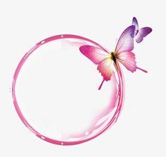 Pink transparent bubble butterfly effect element PNG and PSD Framed Wallpaper, Flower Background Wallpaper, Flower Backgrounds, Frame Background, Butterfly Effect, Butterfly Art, Nail Logo, Doodle Frames, Instagram Frame
