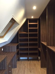10 Precious Hacks: Attic Access The Loft attic transformation beautiful.Finished Attic Small attic home.Attic Remodel Tips. Small Master Closet, Attic Bedroom Small, Attic Loft, Loft Room, Attic Rooms, Attic Spaces, Closet Bedroom, Attic Office, Attic Library