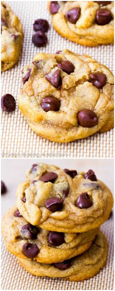THE best chocolate chip cookie recipe! Unbelievably soft, unbelievably simple Classic Chocolate Chip Cookies - these are a reader favorite! Cookie Desserts, Just Desserts, Cookie Recipes, Delicious Desserts, Dessert Recipes, Chocolate Chip Cookies Ingredients, Soft Chocolate Chip Cookies, Chocolate Chips, Chocolate Chip Cookie Recipe With Cornstarch