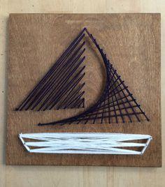 Navy String Sailboat by BlondeWaves on Etsy