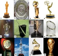 Trophies and Awards -- Can you name all of these famous trophies and awards?