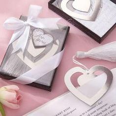 Wedding Favours - Silver Heart Bookmark for R20.00
