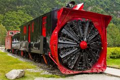 A train equipped for heavy snow