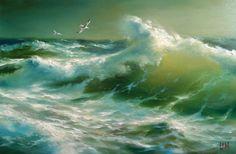 живопись - морской пейзаж, купить картину Две чайки