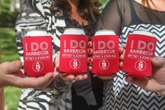 Custom I Do BBQ Koozies - I Do Barbecue - Custom Koozies - Great Party Favors - Can Coolie www.flytrap-promotional.com