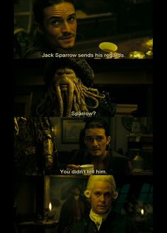 Jack Sparrow sends his regards Jack Sparrow Funny, Jack Sparrow Quotes, Johny Depp, Funny Memes, Hilarious, Pirate Life, Disney Memes, Film Serie, Pirates Of The Caribbean