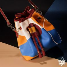 Color up your life! With a new bag, designed by yourself from Make a Bag! Unique Handbags, Popular Handbags, 2017 Design, New Bag, Tool Design, First World, Bag Making, Bucket Bag, Satchel