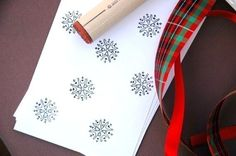 Deco Snowflake Rubber Stamp