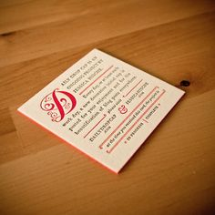 Daily Drop Cap Business Cards: really pretty... with edge printing? perfect.