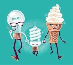 if an ice cream and a light bulb had a baby