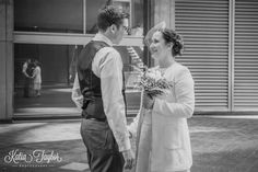 Toronto City Hall Wedding - Bride and groom reveal.