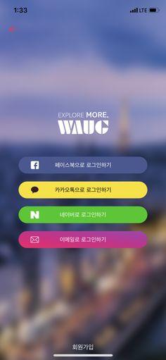 Waug _ 181026 App Login, Mobile Design, Ui Ux Design