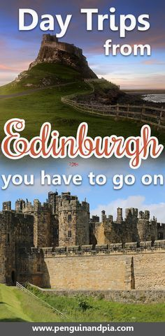 There are many day trips from Edinburgh that you could take. We give you 8 great day trip idea so you can see more of Scottland that just the capital - how about Glasgow, Aberdeen, the Scottish Highlands or beautiful castles? We've got just the right Edin Day Trips From Edinburgh, Edinburgh Tours, Edinburgh Travel, Edinburgh Scotland Hotels, London Travel, Travel Ireland Tips, Europe Travel Tips, European Travel, Italy Travel