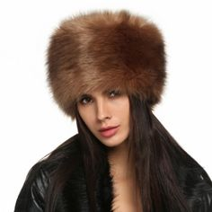 ... Winter Faux Fur Russian Cossack Style Hat Headband Ear Warmer Moda  Invernale 2e60b96dde77