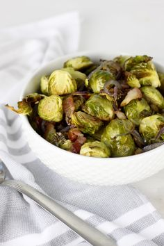 Roasted Brussels Sprouts with Bacon   Whole30 + Paleo…