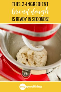 Two ingredients, one dough, and six ways to use it! I'll show you exactly how to make the two ingredient dough everyone's talking about. 2 Ingredient Pizza Dough, 2 Ingredient Recipes, Ww Recipes, Bread Recipes, Cooking Recipes, Healthy Recipes, What's Cooking, Healthy Options, Greek Yogurt Bread