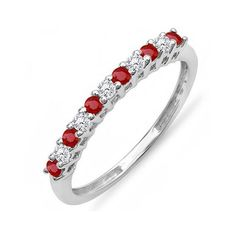 10K White Gold And Ruby Ring | Anniversary Gifts | 40th Anniversary Gifts For Her