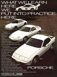 1978 Porsche 924, 911, and 928 ad
