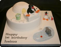 Pingu and Friends Birthday Cake