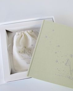 Baby Memory Book with Custom Keepsake Box