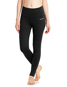 36fe2f4cd4 Baleaf Women s High Waist Inner Pocket Non See-through Fabric Yoga Pants   women