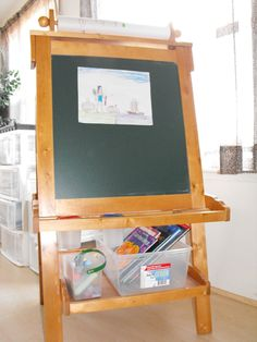Learning centers throughout the home or room / homeschooling Art Center - Jamie Hobbs (http://www.mrsmarchs.com)