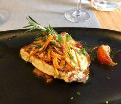 Restaurant Les Canailles à Strasbourg : steak d'espadon avec un écrasé de pommes de terre
