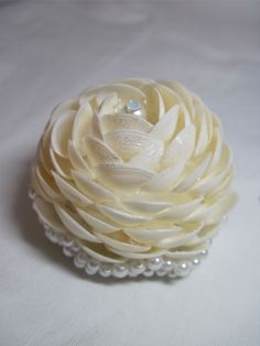 Brooch Bouquet Seashell Rose - to add to your Brooch Bouquet