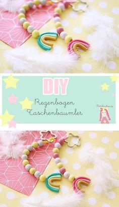 DIY Taschenbaumler basteln mit Polymer Clay oder Fimo, Schlüsselanhänger selbermachen, DIY Geschenke